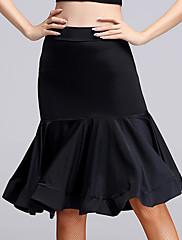 Latin Dance Bottoms Women's Performance Rayon Ruched 1 Piece Sleeveless High Skirt M:56  L:57   XL:58