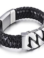 Pánské Náramek Kožené náramky Módní Kožené Geometric Shape Šperky Pro Denní Ležérní 1ks