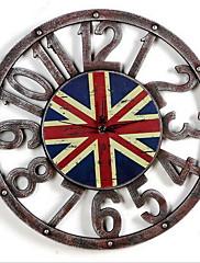 Módní a moderní Ostatní Nástěnné hodiny,Kulatý Dřevo / Umělá hmota 39.5*39.5cm Vevnitř Hodiny