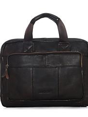 メンズ 牛側 フォーマル / カジュアル / オフィス / ショッピング ノートパソコン用バッグ ブラウン / ブラック