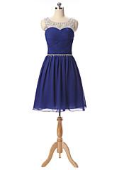 カクテルパーティー ドレス Aライン スイートハート ショート/ミニ シフォン とともに クリスタル装飾