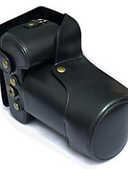 5d iii 油 皮 相机 包 pouzdro pro fotoaparát Canon 5diii DSLR (černá / hnědá / káva)