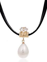 Dámské Obojkové náhrdelníky Náhrdelníky s přívěšky Perly Látka Módní Nastavitelná Přizpůsobeno Černá Šperky Denní Ležérní 1ks