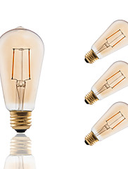 2 E26/E27 LED žárovky s vláknem ST19 2 COB 180 lm Jantarově žlutá Stmívací / Ozdobné AC 110-130 V 4 ks