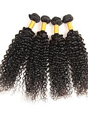Lidské vlasy Vazby Peruánské vlasy Kinky Curly 4 kusy Vazby na vlasy