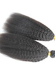 Lidské vlasy Vazby Brazilské vlasy yaki 12 měsíců Jeden díl Vazby na vlasy