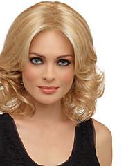 sexy blond Délka středně tepelně odolná plná vlasy paruka