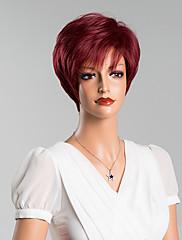 新しい到着の一意の短いストレートキャップレスは、8インチの人間の髪の毛のかつら