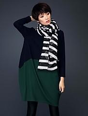 Žene Jednostavno / Ulični šik / Sofisticirano Plus veličine / Formalno / Rad Širok kroj Haljina,Jednobojni / Print / Color blockDugih