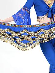 女性用-ベリーダンス-ベリーダンス用ヒップスカーフポリエステル,ビーズ / ゴールドコイン)