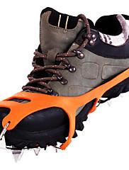 crampones de acero inoxidable / la nieve del hielo de agarre / hielo zapatos de escalada / dieciocho dientes garra nieve