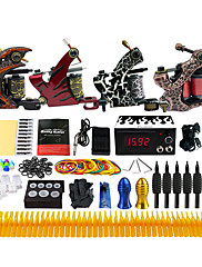 Kompletan Tattoo Kit 4 x legure tetovaža stroj za obloge i sjenčanje 4 Tattoo Machines LCD napajanja Tinte dostavljaju odvojeno