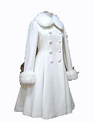 Abrigo Gosurori Princesa Cosplay Vestido  de Lolita Negro Blanco Moda Manga Larga Lolita Abrigo por