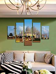 Kunst Print Landskab Moderne,Fem Paneler Horisontal Print Vægdekor For Hjem Dekoration
