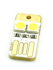 Teclado do computador luzes mini usb poder móvel dois 5050 chubby cais dupla face branco quente ou branco frio