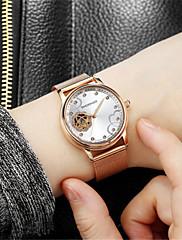 Mulheres Relógio Esqueleto Relógio de Moda relógio mecânico Automático - da corda automáticamente Impermeável Noctilucente Aço Inoxidável