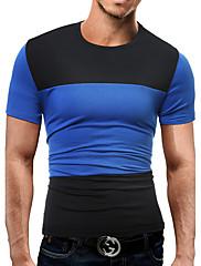 Masculino Camiseta Esportes Tamanhos Grandes Para Noite Casual Trabalho Bandagem Simples Moda de Rua Activo Primavera Verão,Estampa