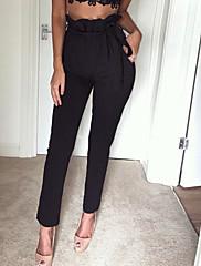 Dámské Sexy Roztomilé Mikro elastické Kalhoty chinos Kalhoty Volné Mid Rise Jednobarevné