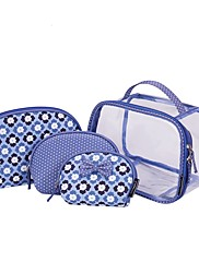 女性 収納袋 PVCバッグ オールシーズン カジュアル バケットバッグ ファスナー ブルー
