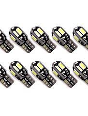10pcs t10 8 smd 5630 led canbus error livre auto luzes de estacionamento w5w 8smd levou carro cunha colo lado lâmpadas lâmpadas de leitura