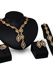Dámské Náhrdelníky s přívěšky imitace drahokamu Módní Přizpůsobeno Zirkon Štras Pozlacené Slitina Geometric Shape Šperky Pro Párty Zásnuby