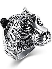 Pánské Dámské Široké prsteny Kubický zirkon Základní design Módní Retro Hip-hop Gothic Klasický Titanová ocel Circle Shape Šperky Pro