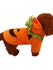 Cachorro Casacos Roupas para Cães Dia Das Bruxas Abóbora Laranja