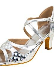 Damer Latin Syntetisk læder Sandaler Optræden Kryds & Tværs Stilethæle Sølv 7,9 - 9,5 cm Kan tilpasses
