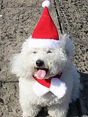 Hund Bandanaer & Hatte Hundetøj Jul Solid Rød