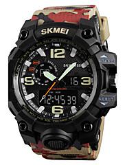 SKMEI Pánské Sportovní hodinky Náramkové hodinky Digitální hodinky japonština Křemenný DigitálníKalendář Voděodolné Hodinky s dvojitým
