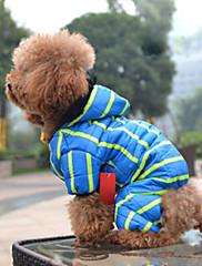 Cachorro Casacos Roupas para Cães Casual Riscas Azul Rosa claro