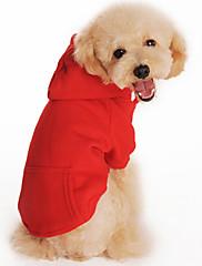 Cachorro Camisola com Capuz Roupas para Cães Casual Sólido Preto Laranja Cinzento Vermelho