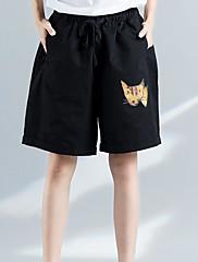 Ženske Ravan kroj Jednostavan Visoki struk Mikroelastično Kratke hlače Hlače Print