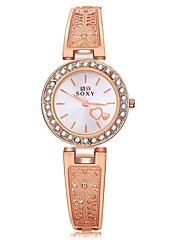 女性用 ファッションウォッチ ユニークなクリエイティブウォッチ ダミー ダイアモンド 腕時計 中国 クォーツ 合金 バンド ローズゴールド
