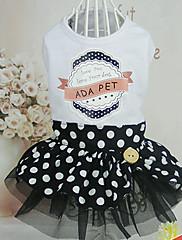 Cachorro Vestidos Roupas para Cães Casual Princesa