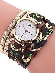 女性用 ファッションウォッチ ブレスレットウォッチ ダミー ダイアモンド 腕時計 中国 クォーツ 模造ダイヤモンド PU 生地 バンド ボヘミアンスタイル カジュアルスーツ エレガント腕時計 ブラック 白 レッド ブラウン