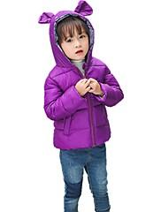 女の子 ゼブラプリント ポリエステル ダウン&コットンキルティング 冬 オールシーズン 長袖