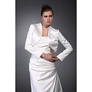 Long Sleeves Satin Bridal Evening Jacket/ Wedding Wrap Bolero Shrug