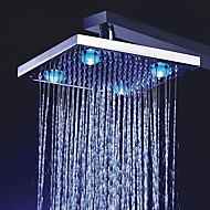 8 inch Color Changing LED Shower Head with 4 LED Lights