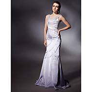 Military Ball/Formal Evening Dress - Lavender Plus Sizes Trumpet/Mermaid Scoop/Straps Sweep/Brush Train Satin