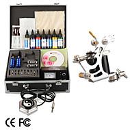 Tattoo Kit Pro 1 Tattoo Machine Power Tip Needles Skin Ink Supply