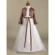 Kids' Wraps Shrugs Long Sleeve Satin Brown Wedding / Party/Evening Poet Ruffles
