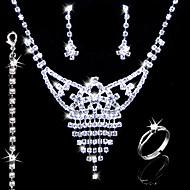 Gorgeous Alloy With Rhinestones Wedding Bridal Jewelry Set(0986-L20111211494)