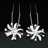 신부 핀 / 꽃, 2 개를 모조 다이아몬드