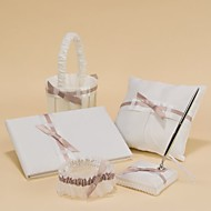 pura eleganza nozze collezione in raso bianco (5 pezzi)