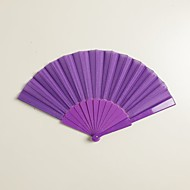 lilla silke hånd fans (sett av 6)
