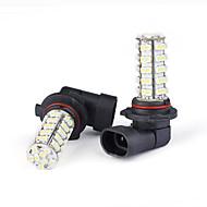 2 pezzi auto 68 lampadine a LED SMD 9006/hb4 nebbia / giorno chiaro (bianco)