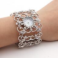 Női Divatos óra Szimulált Gyémánt Karóra Japán Kvarc ötvözet Zenekar Szikra Karkötő Ezüst Ezüst