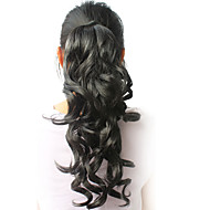"""High Quality Synthetic 16.94"""" Curly Black Ponytail"""