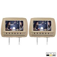 """9 """"Auto Kopfstütze DVD-Player FM-Transmitter Unterstützung drahtlose Spiel kostenlose Kopfhörer (1 Paar)"""